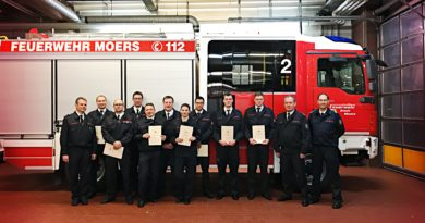 Jahreshauptversammlung des Löschzug Hülsdonk der Feuerwehr Moers am 19.01.2019