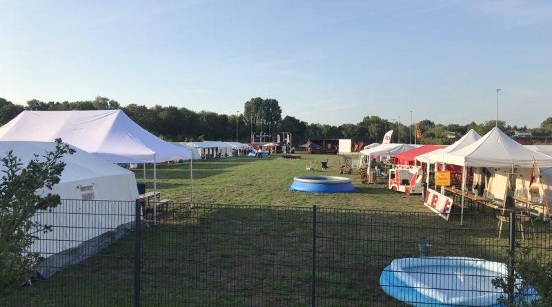Kreiszeltlager der Jugendfeuerwehren des Kreis Wesel in Moers